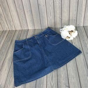 White Stag Womens Jean Skort Size 10 Stretch